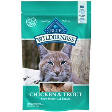 Blue Buffalo Wilderness - Chicken & Trout Soft-Moist Cat Treats - 2 oz