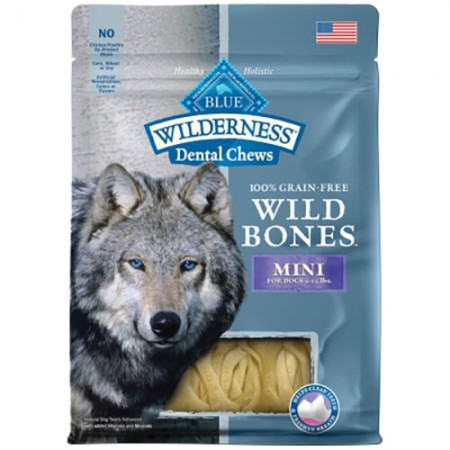 Blue Buffalo Wilderness Dental Chews - Mini Wild Bones - 10 oz