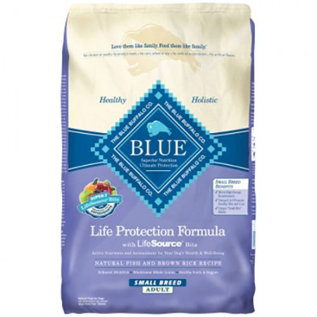 Blue Buffalo Life Protection Formula - Fish & Brown Rice Recipe for Small Breed Adult Dogs - 15 lb