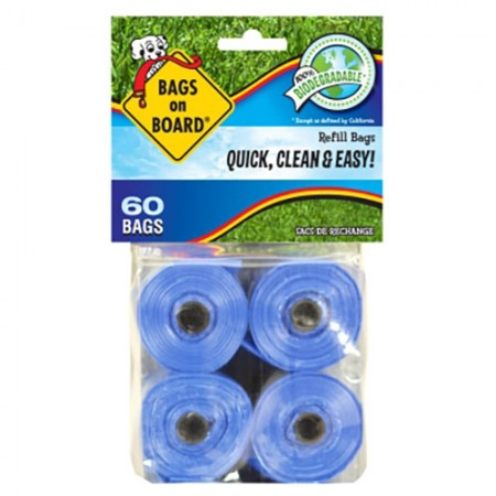 Bags On Board Waste Pick-Up Refill Bags - Blue - 60 pk