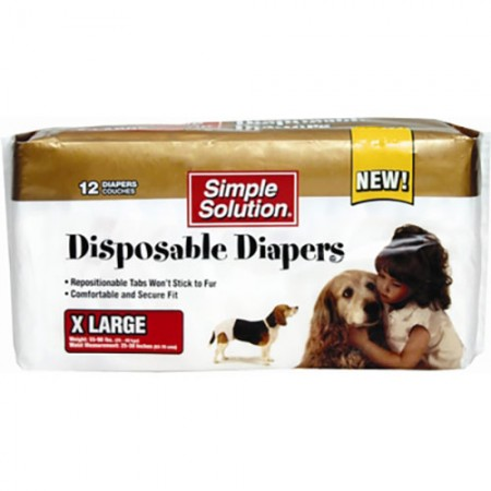 Simple Solution Disposable Diapers - X-Large - 12 pk