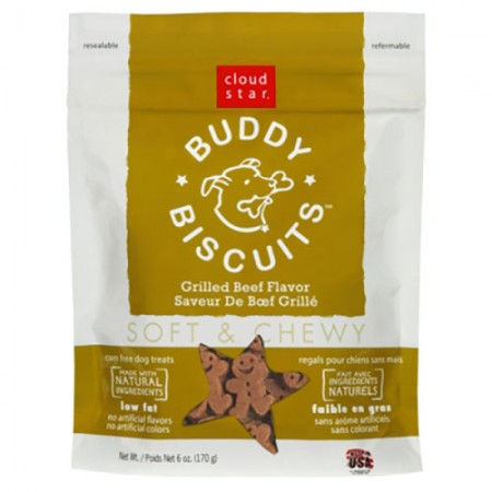 Cloud Star Buddy Biscuits Original Soft & Chewy Treats with Grilled Beef - 6 oz
