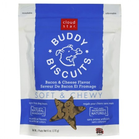 Cloud Star Buddy Biscuits Original Soft & Chewy Treats with Bacon & Cheese - 6 oz
