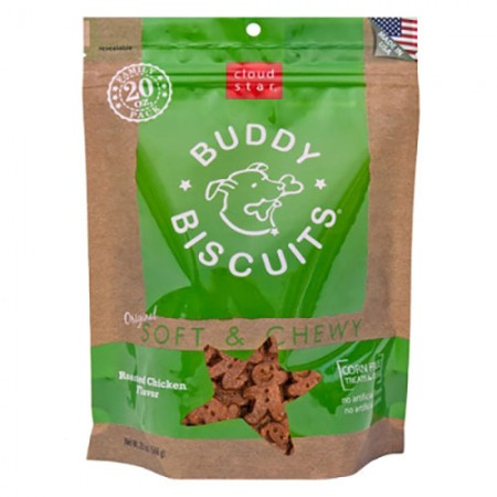 Cloud Star Buddy Biscuits Original Soft & Chewy Treats with Roasted Chicken - 20 oz