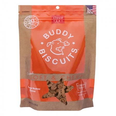 Cloud Star Buddy Biscuits Original Soft & Chewy Treats with Peanut Butter - 20 oz