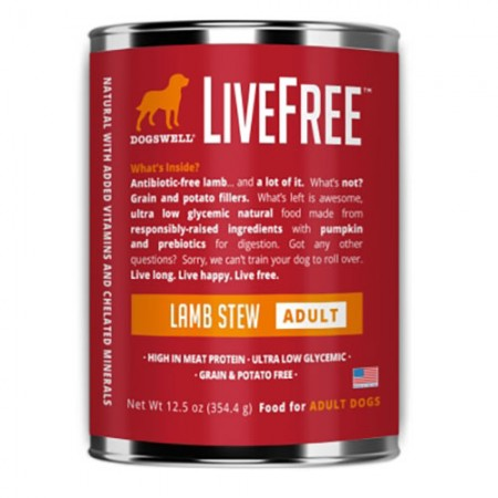 LiveFree Adult Dog Food - Lamb Stew - 12.5 oz - 12 pk