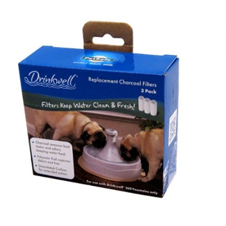 Drinkwell 360 Stainless Steel Pet Fountain Charcoal Filters - 3 pk