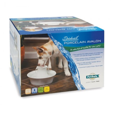 Pet Safe Pro Drinkwell Porcelain Avalon Pet Fountain - 70 fl oz