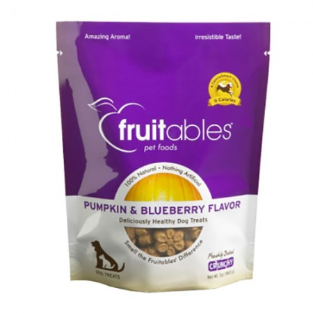 Vetscience Fruitables Crunchy Baked Dog Treats - Pumpkin & Blueberry Flavor - 7 oz