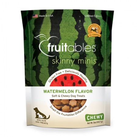 Vetscience Fruitables Skinny Minis Trainers Soft & Chewy Treats - Watermelon Flavor - 5 oz