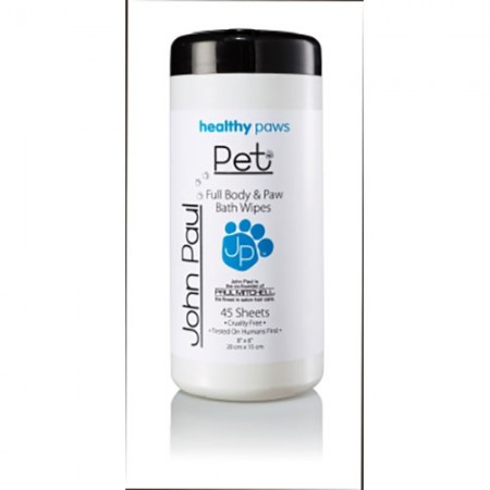 John Paul Body & Paw Pet Wipes - 45 Sheets