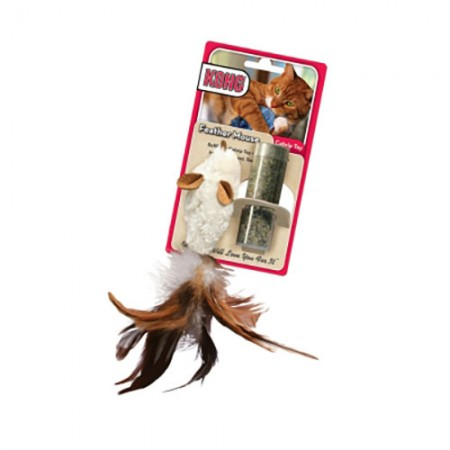KONG Refillable Catnip Toy - Feather Mouse