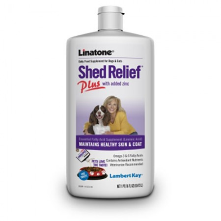 Lambert Kay Linatone Shed Relief Plus for Dogs & Cats - 16 fl oz