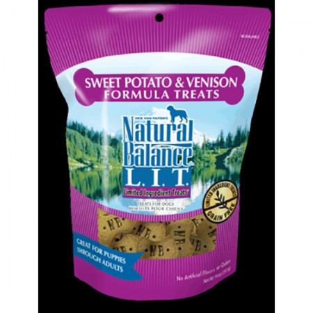 Natural Balance Limited Ingredient Treats - Sweet Potato & Venison Formula - 14 oz