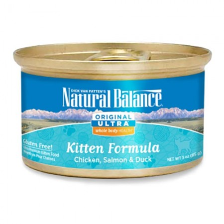 Natural Balance Original Ultra Whole Body Health - Canned Chicken, Salmon & Duck Kitten Formula - 3 oz - 24 pk