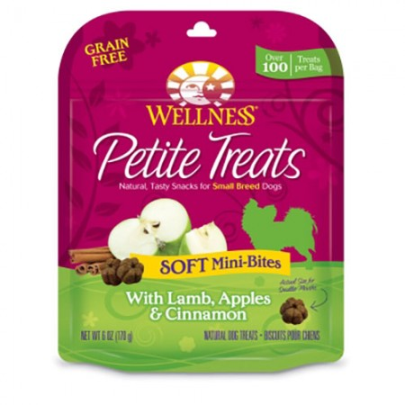 Wellness Petite Treats Soft Mini-Bites - Lamb, Apple & Cinnamon - 6 oz