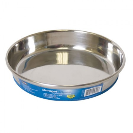 OurPets Premium Rubber - Bonded Stainless Steel Cat Dish - 8 fl oz