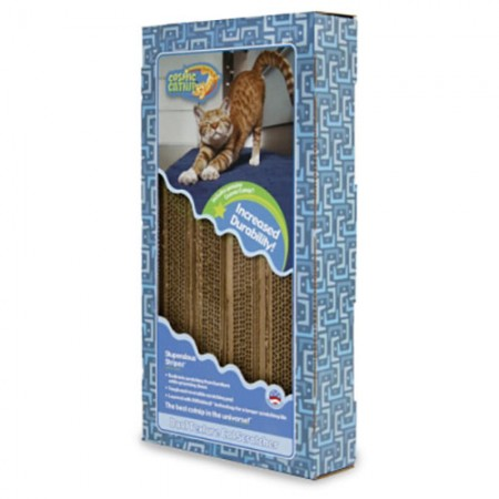 OurPets Dual Scratcher - Striped Design with Catnip