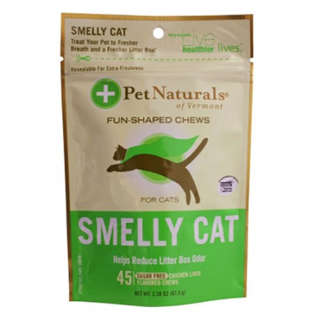 Pet Naturals Smelly Cat Fun Shaped Chews - 45 pk