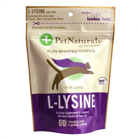 Pet Naturals L-Lysine Fun Shaped Chews - 60 pk