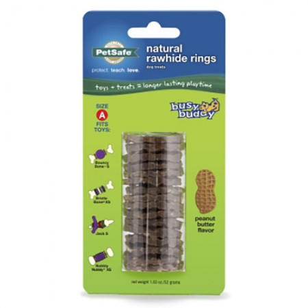 Pet Safe Pro Peanut Butter Natural Rawhide Rings