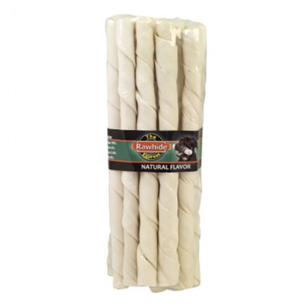 "The Lennox Group Natural Rawhide Sticks - Natural Flavor - 10"" - 15 pk"