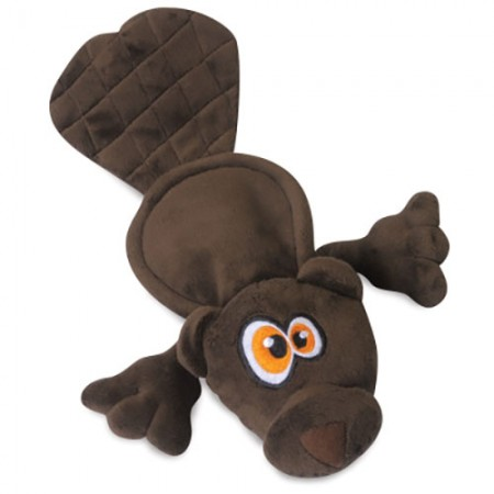 Hear Doggy! Flats Toy with Ultrasonic Squeaker - Beaver