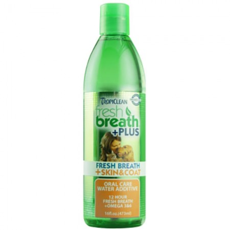TropiClean Skin & Coat + Fresh Breath Water Additive - 16 fl oz