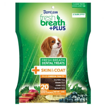 TropiClean Skin & Coat Dental Treats - Small - 12 oz