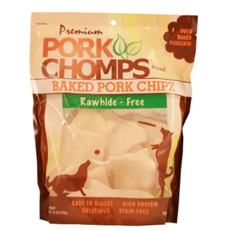 Scott Pet Premium Pork Chomps - Baked Pork Chipz - 12 oz