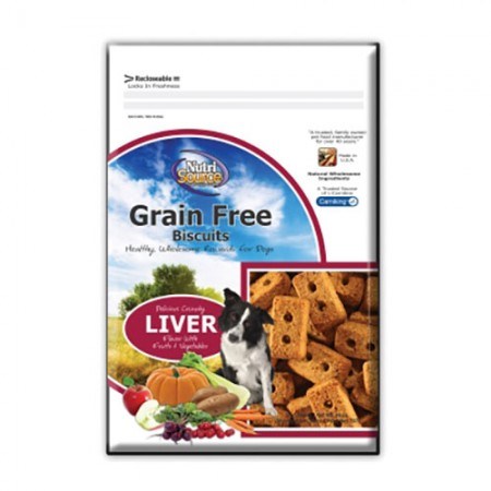Nutri Source Grain Free Biscuits - Liver - 14 oz