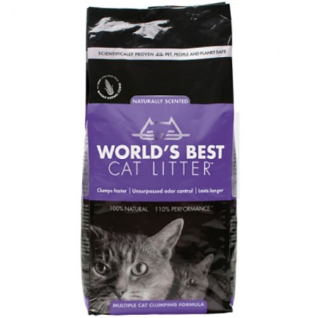 World's Best Lavender Scented Multiple Cat Clumping Litter - 7 lb
