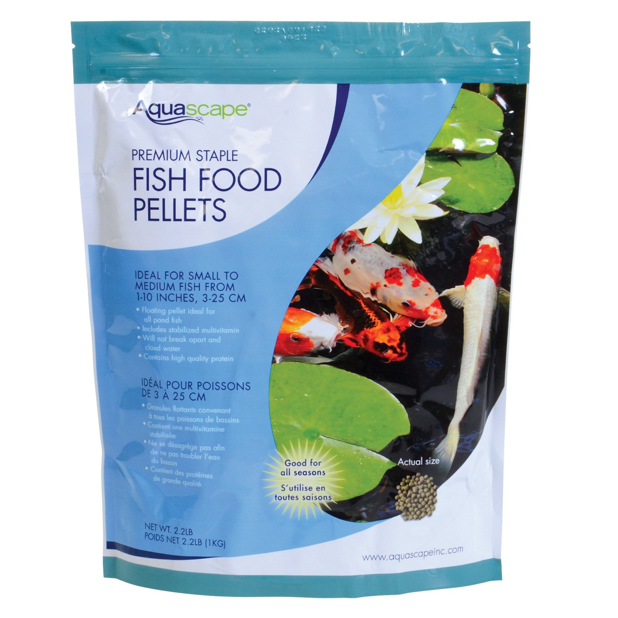 Aquascape premium staple fish food pellets for Fish food pellets