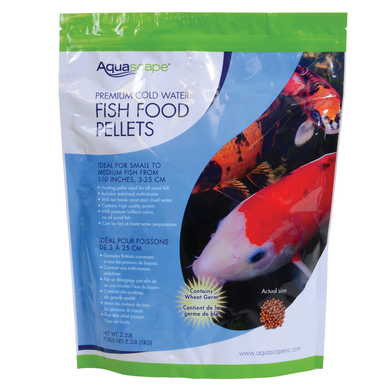 Aquascape premium cold water fish food pellets for Fish food pellets