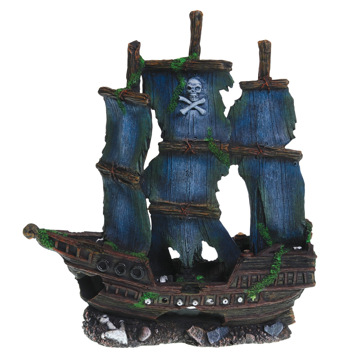 Underwater treasures pirate ship for Fish tank pirate ship