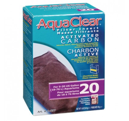 Hagen Activated Carbon Filter Insert for AquaClear 20/Mini - 1 pk