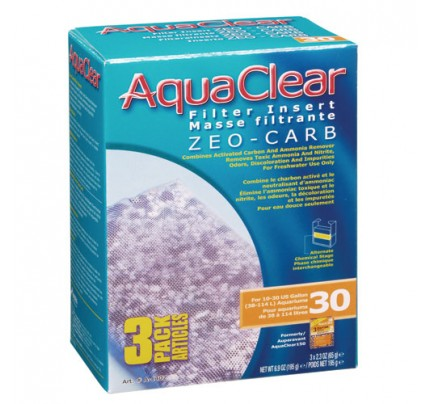 Hagen Zeo-Carb Filter Insert for AquaClear 30/150 - 3 pk