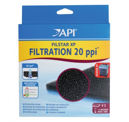 API Filstar XP Filtration 20 ppi Filter Pads - 2 pk