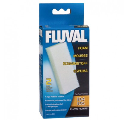 Fluval Foam Filter Blocks for 104/105/106 - 2 pk