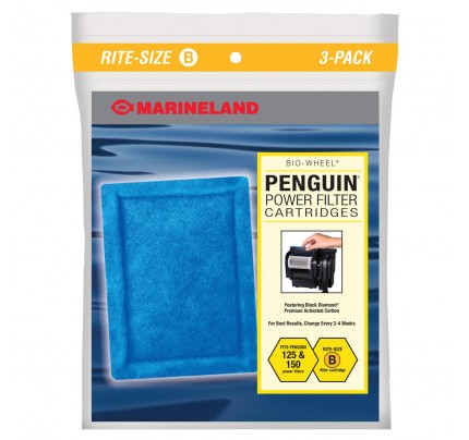 Marineland Filter Cartridge for Penguin 110B/125B/150B - Rite-Size B - 3 pk