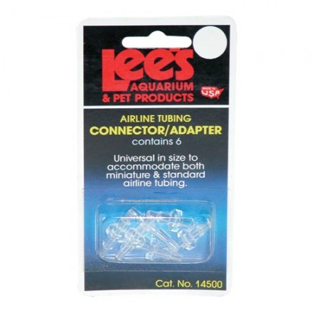 Lee's Airline Tubing Connectors/Adapters - 6 pk