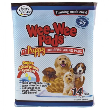Four Paws Wee-Wee Puppy Housebreaking Pads