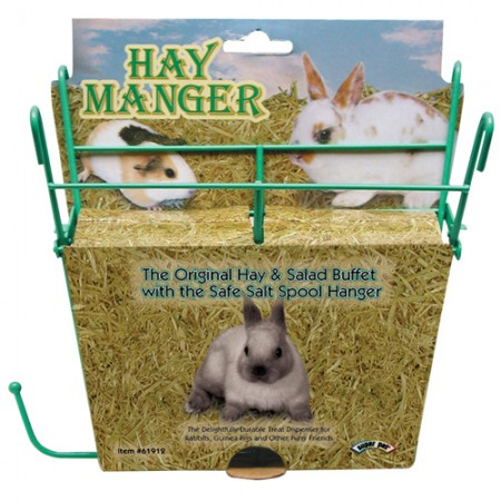 Super Pet Hay Manger with Salt Hanger - Assorted