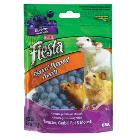 Fiesta Yogurt Chips for Hamsters, Gerbils, Rats & Mice - Blueberry Yogurt - 3.5 oz