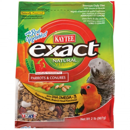 Exact Natural Veggie Premium Daily Diet for Parrots and Conures - 2 lb