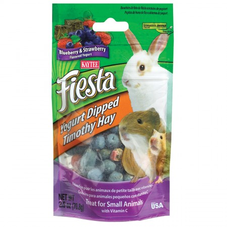 Fiesta Yogurt Dipped Timothy Hay - Blueberry & Strawberry Yogurt - 2.5 oz