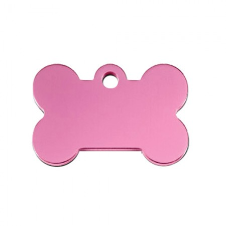 PetScribe I.D. Tag - Light Pink Anodized Aluminum - Small Bone