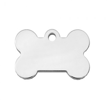 PetScribe I.D. Tag - Chrome Plated - Small Bone
