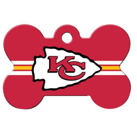 PetScribe I.D. Tag - NFL Kansas City Chiefs - Large Bone