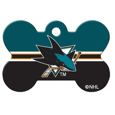 PetScribe I.D. Tag - NHL San Jose Sharks - Large Bone